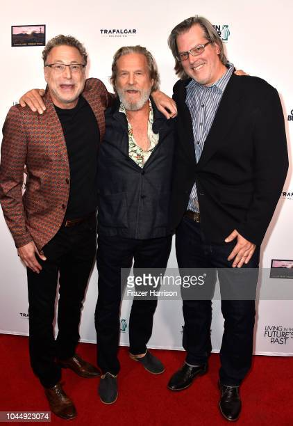 Leonard Midiow Jeff Bridges Nate Hagens attends the Premiere Of Vision Films' 'Living In The Future's Past' at Ahrya Fine Arts Theater on October 2...