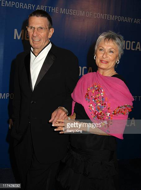 Leonard Nimoy and Susan Bay during The Museum Of Contemporary Art Celebrates 25th Anniversary - Arrivals at MOCA at the Geffen Contemporary in Los...