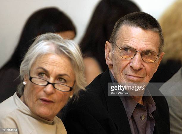 Leonard Nimoy and Susan Nimoy attends Yeohlee Spring 2009 at the Van Alen Institute on September 8, 2008 in New York City.