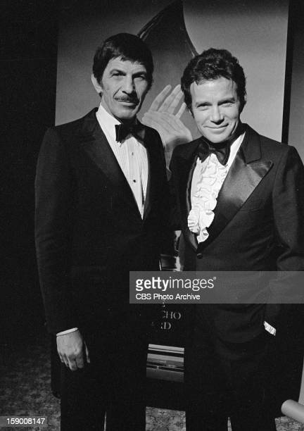 Leonard Nimoy and William Shatner after the 1980 People's Choice Awards. Image dated January 24, 1980.