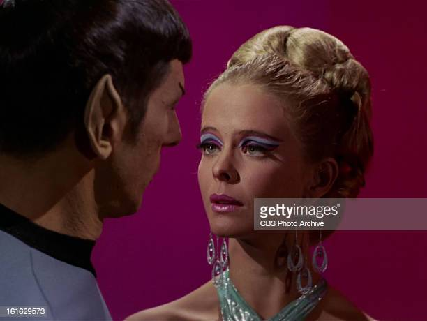 Leonard Nimoy as Mr Spock and Diana Ewing as Droxine in the STAR TREK THE ORIGINAL SERIES episode The Cloud Minders Season 3 episode 21 Original air...