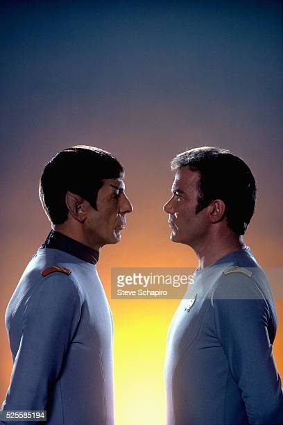 Leonard Nimoy as Mr. Spock and William Shatner as Admiral James T. Kirk in the 1979 film Star Trek: The Motion Picture.