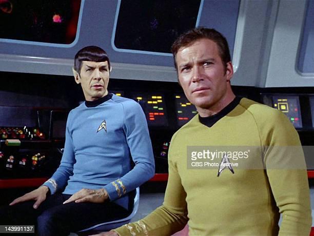Leonard Nimoy as Mr Spock and William Shatner as Captain James T Kirk in the STAR TREK episode Spock's Brain Original airdate September 20 1968...