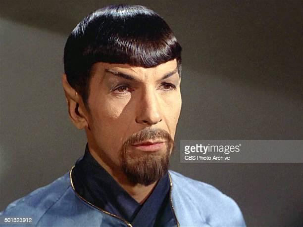 "Leonard Nimoy as Mr. Spock in the STAR TREK: THE ORIGINAL SERIES episode, ""Mirror, Mirror."" Original air date October 6, 1967. Image is a screen grab."