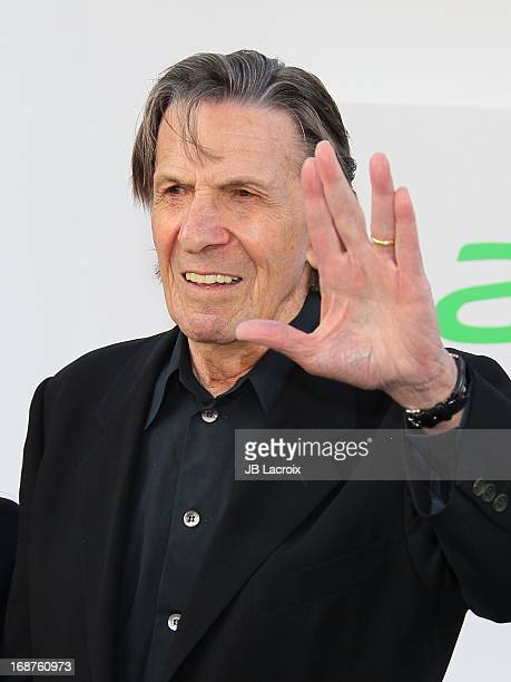 Leonard Nimoy attends the Los Angeles premiere of 'Star Trek: Into Darkness' held at Dolby Theatre on May 14, 2013 in Hollywood, California.