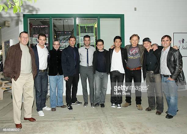 Leonard Nimoy, Chris Pine, Alex Kurtzman, Karl Urban, Zachary Quinto, J.J. Abrams, John Cho, Bruce Greenwood, Clifton Collins Jr. And Roberto Orci...