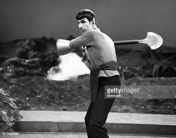 Leonard Nimoy played a Vulcan Commander Spock a crew member of the Starship Enterprise in the Star Trek American TV series