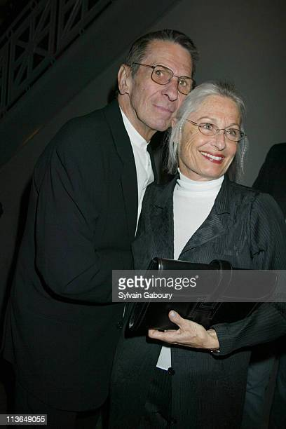 """Leonard Nimoy, Susan Bay during Al Gore Was a Guest at The Broadway Opening of """"Urban Cowboy"""" and the Show's Afterparty at Broadhurst Th. & Marriott..."""