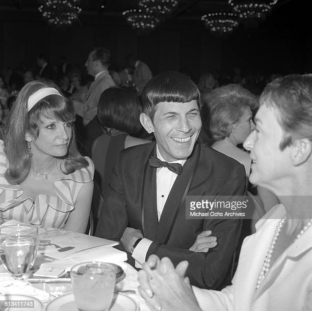 Leonard Nimoy with wife Sandra Zober attend an event in Los Angeles,CA.