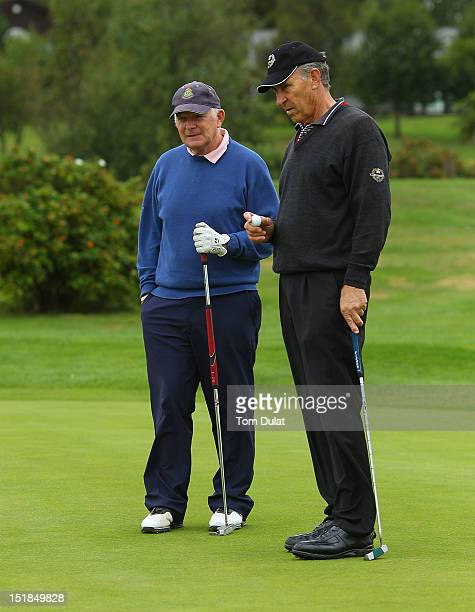 Leonard Owens and Anthony Hooey of Royal Dublin Golf Club during the PGA Super 60's Tournament at the De Vere Belton Woods Golf Club on September 12...
