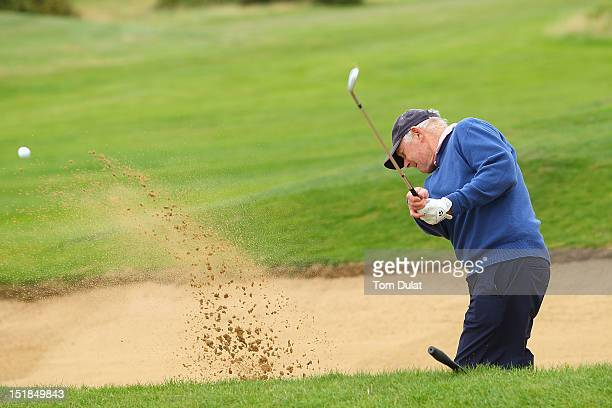 Leonard Owens of Royal Dublin Golf Club plays out of the bunker on the 2nd hole during the PGA Super 60's Tournament at the De Vere Belton Woods Golf...