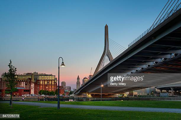 Leonard P Zakim Bridge and Northpoint Park