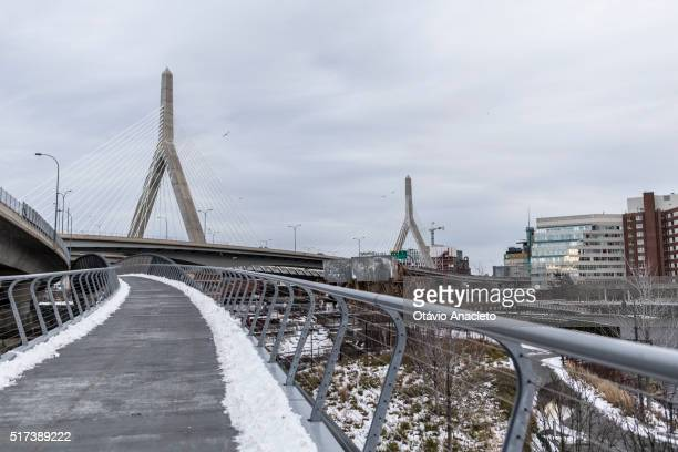 leonard p. zakim bridge - cambridge massachusetts stock pictures, royalty-free photos & images