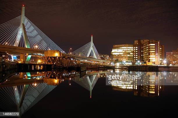 - leonard p. zakim bunker hill bridge - cambridge massachusetts stock pictures, royalty-free photos & images