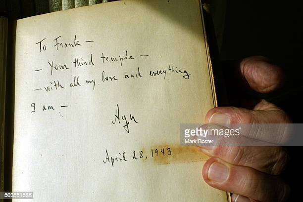 ––Leonard Peikoff inherited the works manuscripts and notes from Philosopher Ayn Rand He donated all but two pages of the original manuscript of The...