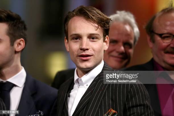 Leonard Scheicher attends the 'The Silent Revolution' premiere during the 68th Berlinale International Film Festival Berlin at Friedrichstadtpalast...