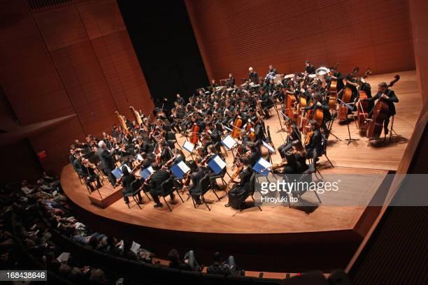 Leonard Slatkin leading the Juilliard Orchestra in Prokofiev's Symphony N0 5 in Bflat Major at Alice Tully Hall on Saturday night May 4 2013
