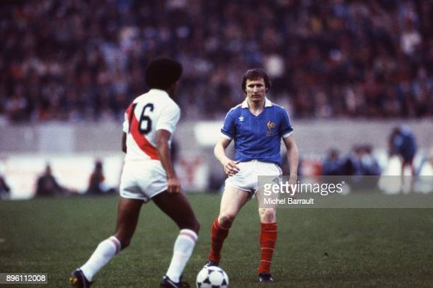 Leonard Specht of France during the International Friendly match between France and Peru at Parc des Princes in Paris on April 28th 1982