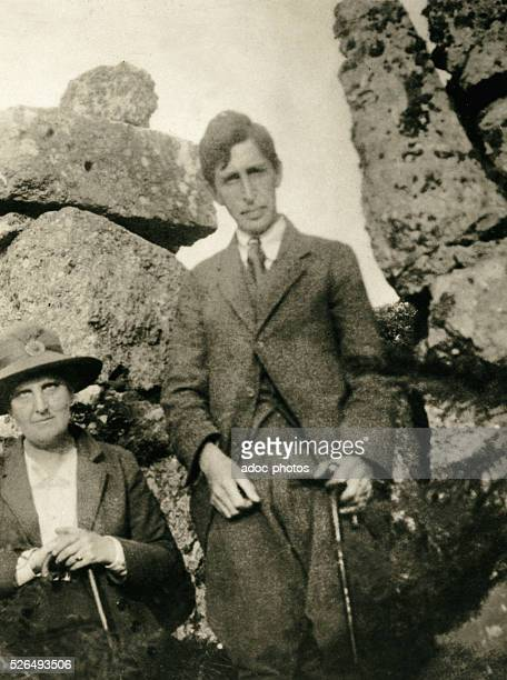 Leonard Woolf Engish writer and husband of Virginia Woolf with Margaret Llewelyn Davies In 1916