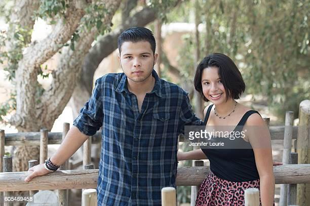 Leonardo Aguilar and Angela Aguilar make a special donation to the Santa Barbara Zoo at the Santa Barbara Zoo on September 13 2016 in Santa Barbara...