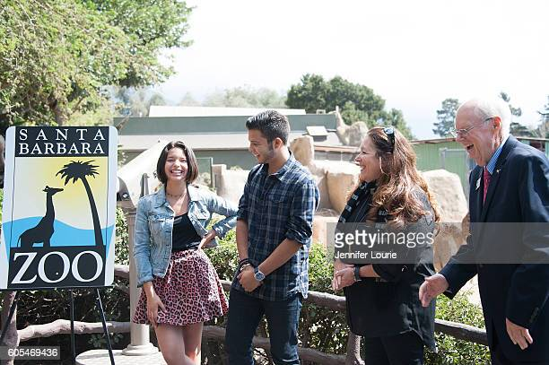 Leonardo Aguilar Angela Aguilar Rena Wasserman and Rich Block attend the Aguilar family making a special donation to the Santa Barbara Zoo at the...