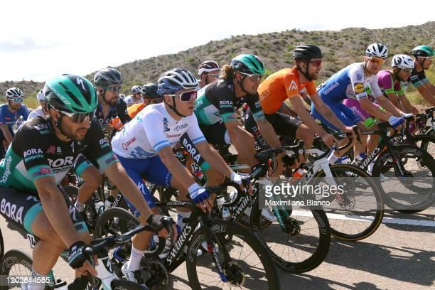 Leonardo Basso of Italy and Italy National Team / Oscar Gatto of Italy and Team Bora-Hansgrohe / Remco Evenepoel of Belgium and Deceuninck -...