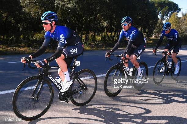 Leonardo Basso of Italy and Team Sky / Christopher Lawless of Great Britain and Team Sky / during the 4th Tour de La Provence 2019 Stage 2 a 1956km...
