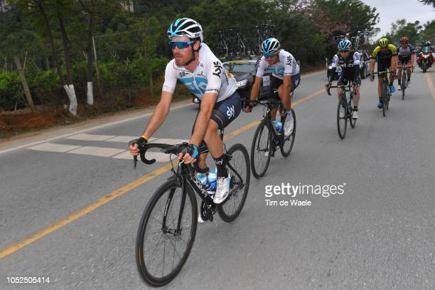 Leonardo Basso of Italy and Team Sky / Gianni Moscon of Italy and Team Sky / during the 2nd Tour of Guangxi 2018 Stage 4 a 1522km stage from Nanning...