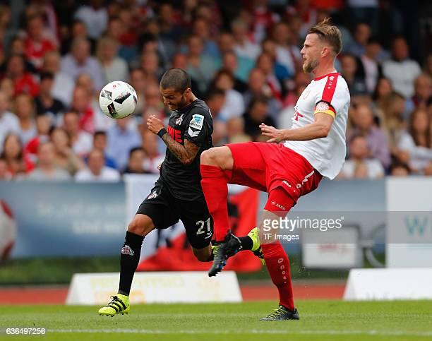 Leonardo Bittencourt of FC Koeln and Maik Kegel of Fortuna Koeln battle for the ball during the preseason friendly match between Fortuna Koeln and 1...