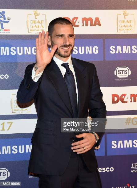 Leonardo Bonucci attends the Gran Gala Del Calcio 2017 on November 27 2017 in Milan Italy