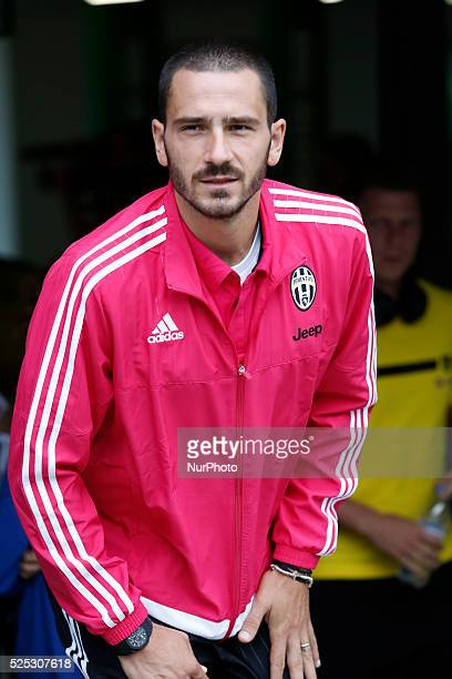 Leonardo Bonucci before the friendly match between Juventus FC and Borussia Dortmund at the AFG Arena of San Gallo Switzerland on july 25 2015 in...