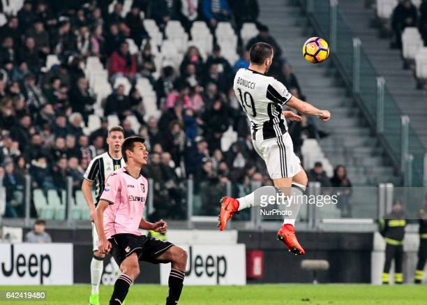 Leonardo Bonucci during Serie A match between Juventus v Palermo, in Turin, Italy on February 17, 2017 .