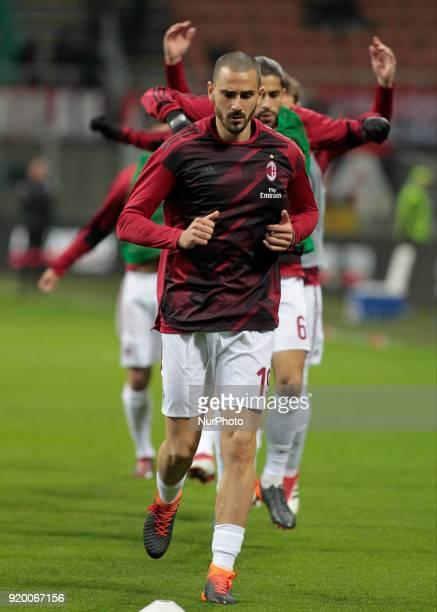 Leonardo Bonucci during the Italian Serie A football match between AC Milan and Sampdoria at the San Siro stadium in Milan on February 18 2018