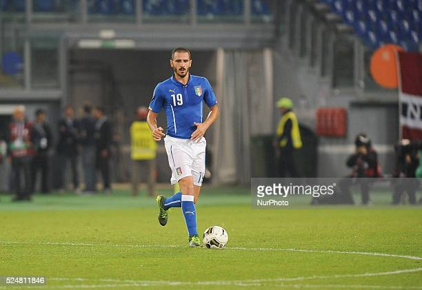 Leonardo Bonucci during the Qualifying Round European Championship football match Italia vs Norvegia at the Olympic Stadium in Rome, on october 13,...