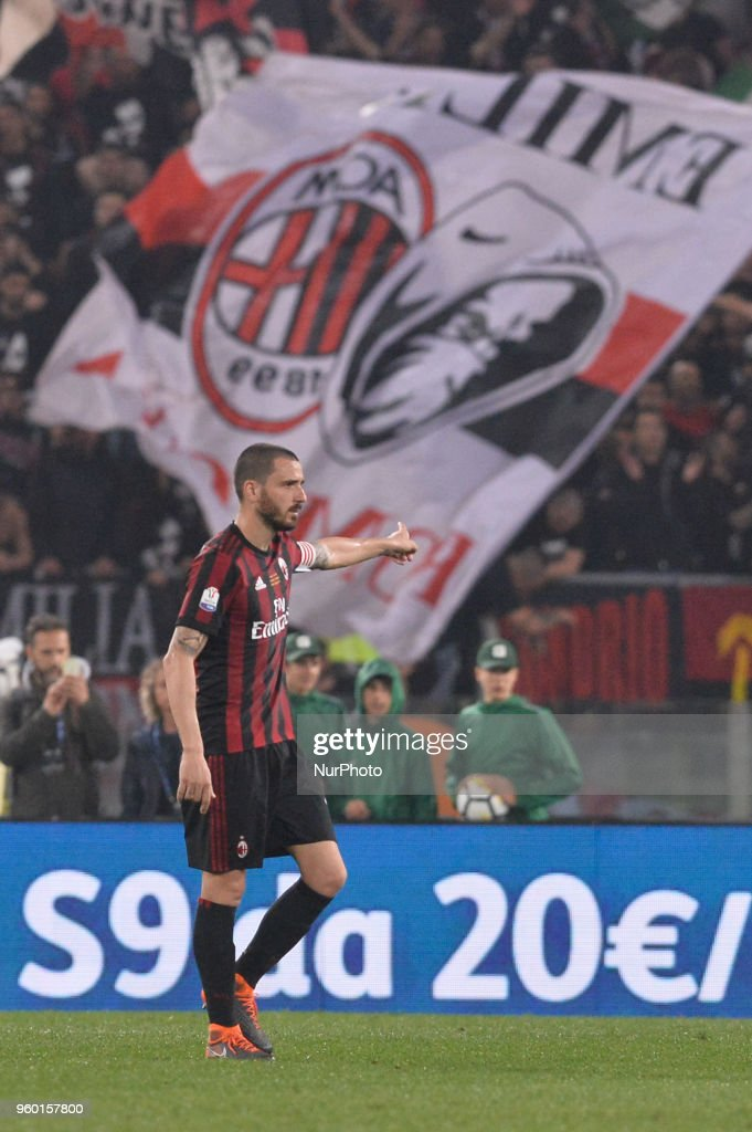 Leonardo Bonucci during the Tim Cup Final football match F.C. Juventus vs A.C. Milan at the Olympic Stadium in Rome, on May 09, 2018
