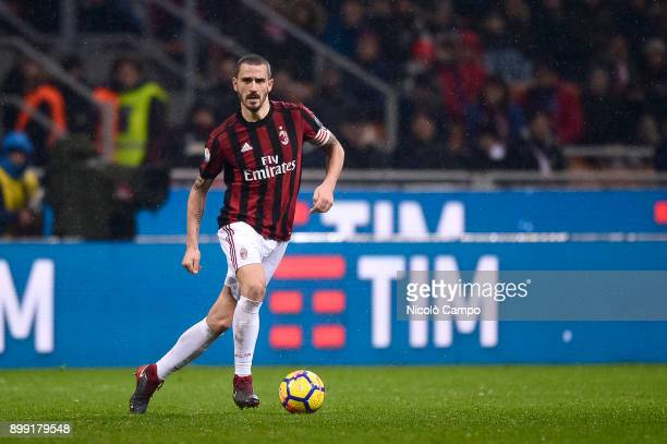 Leonardo Bonucci of AC Mila in action during the TIM Cup football match between AC Milan and FC Internazionale AC Milan won 10 over FC Internazionale...