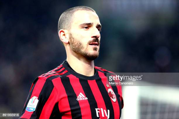 Leonardo Bonucci of Ac Milan during the Tim Cup football match between AC Milan and Hellas Verona Fc Ac Milan wins 30 over Hellas Verona Fc