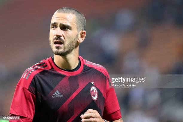 Leonardo Bonucci of Ac Milan during the UEFA Europa League group D football match between AC Milan and HNK Rijeka AC Milan wins 32 over HNK Rijeka