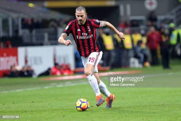 Leonardo Bonucci of Ac Milan in action during the Serie A football match between AC Milan and Uc Sampdoria Ac Milan wins 10 over Uc Sampdoria