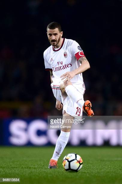 Leonardo Bonucci of AC Milan in action during the Serie A football match between Torino FC and AC Milan The match ended in a 11 tie