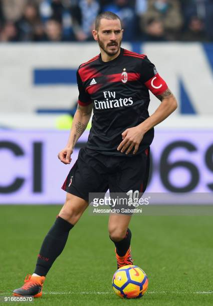 Leonardo Bonucci of AC Milan in action during the serie A match between Spal and AC Milan at Stadio Paolo Mazza on February 10 2018 in Ferrara Italy