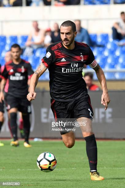 Leonardo Bonucci of AC Milan in Action during the Serie A soccer match between SS Lazio and AC Milan at Stadio Olimpico on September 102017 in...