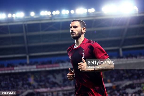 Leonardo Bonucci of Ac Milan looks on before the Serie A football match between Torino Fc and Ac Milan The match end in a tie 11