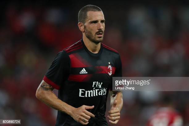 Leonardo Bonucci of AC Milan looks on during the 2017 International Champions Cup China match between FC Bayern and AC Milan at Universiade Sports...