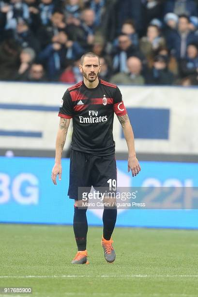 Leonardo Bonucci of AC Milan looks on during the serie A match between Spal and AC Milan at Stadio Paolo Mazza on February 10 2018 in Ferrara Italy