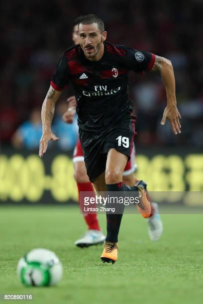 Leonardo Bonucci of AC Milan runs with the ball during the 2017 International Champions Cup China match between FC Bayern and AC Milan at Universiade...