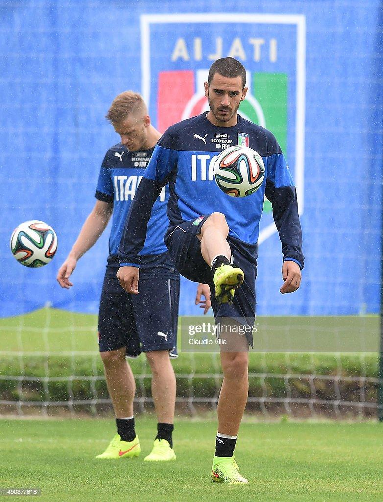 Leonardo Bonucci of Italy during a training session on June 10, 2014 in Rio de Janeiro, Brazil.