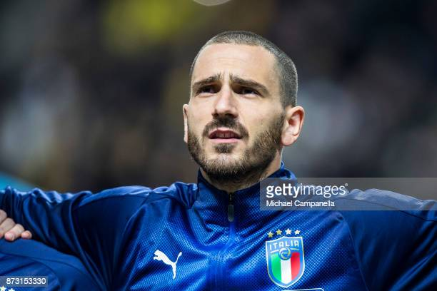 Leonardo Bonucci of Italy during the FIFA 2018 World Cup Qualifier PlayOff First Leg between Sweden and Italy at Friends arena on November 10 2017 in...