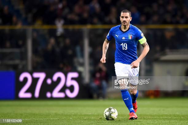 Leonardo Bonucci of Italy in action during the 2020 UEFA European Championships group J qualifying football match between Italy and Liechtenstein....