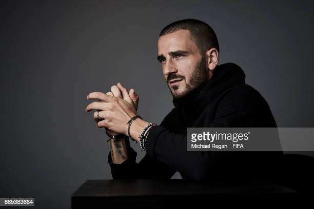 Leonardo Bonucci of Italy poses during The Best FIFA Football Awards at The May Fair Hotel on October 23 2017 in London England